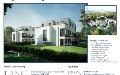 Vertriebsbeginn Bauvorhaben Mecklenburger Landstr. 30, Lübeck-Priwall